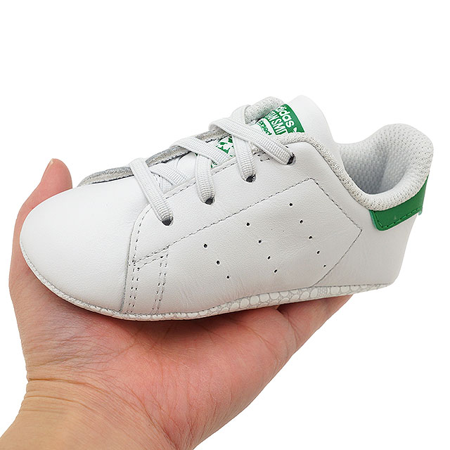 newest b1579 5d079 adidas Adidas sneakers shoes kids originals STAN SMITH CRIB Stan Smith baby  R white  R white   green (B24101 SS18)