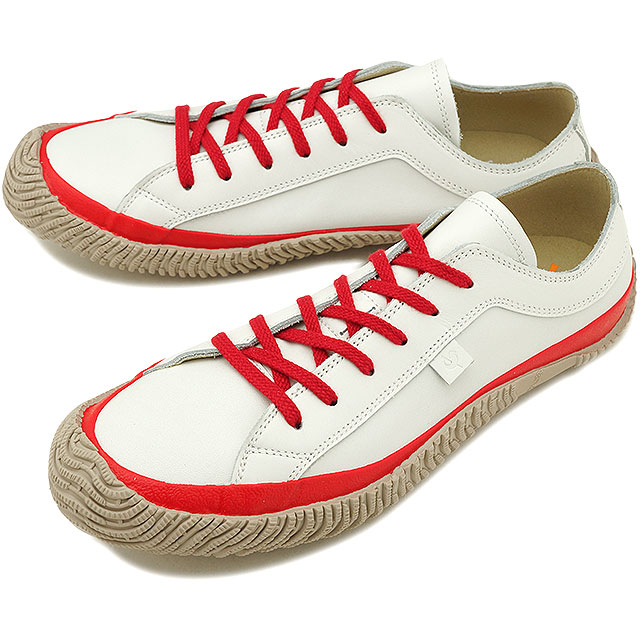 43b543bfd3 SPINGLE MOVE スピングルムーブメンズ Lady s leather sneakers shoes SPM-101 スピングルムーヴ  White Red (SPM101-69 SS18)
