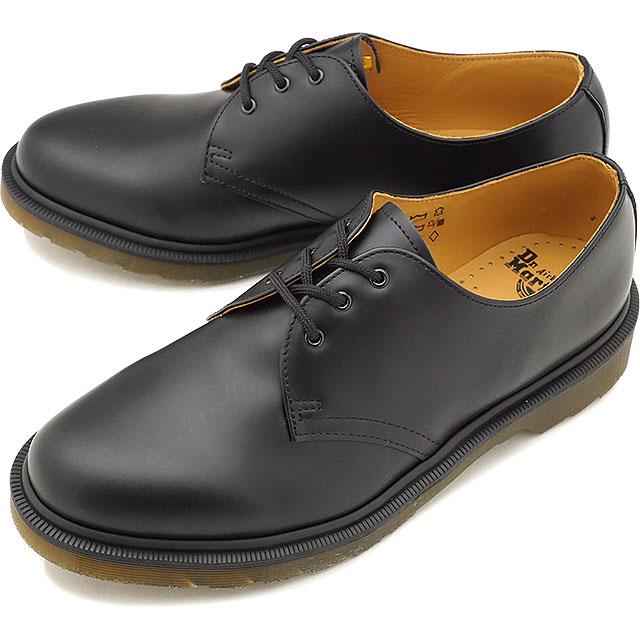 【即納】Dr.Martens ドクターマーチン ブーツ 1461 PW プレーンウェルト 3EYE SHOE 3ホールシューズ BLACK ブラック メンズ・レディース 靴 [10078001 SS18]