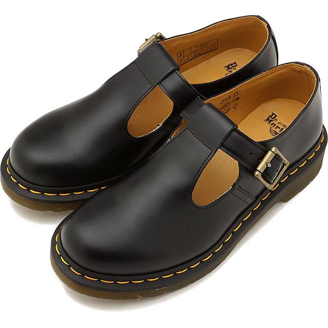 【即納】Dr.Martens ドクターマーチン ブーツ POLLEY T-BAR SHOES ポリー ティーバーシューズ BLACK ブラック レディース 靴 (14852001 SS18)【コンビニ受取対応商品】