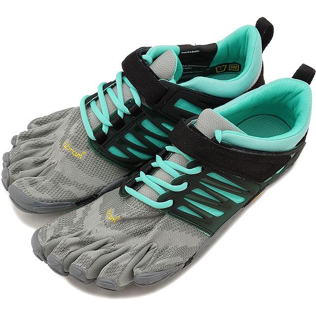 Vibram Fivefingers V-TRAIN - Sports shoes - grey/black/aqua p70LbGtuiC