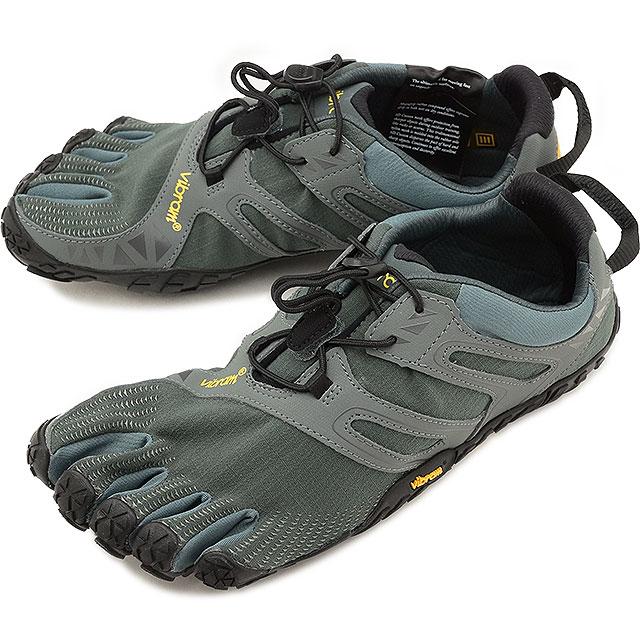 Vibram FiveFingers ビブラムファイブフィンガーズ メンズ スポーツシューズ V-Trail DarkGrey/Sage ビブラム ファイブフィンガーズ 5本指シューズ ベアフット 靴 [18M6901]