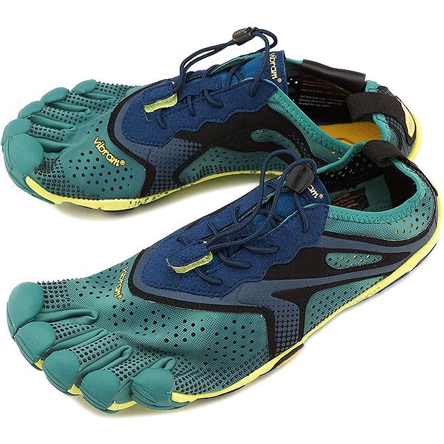 Vibram FiveFingers ビブラムファイブフィンガーズ メンズ ランニングシューズ V-Run NorthSea/Navy ビブラム ファイブフィンガーズ 5本指シューズ ベアフット 靴 [18M7001]