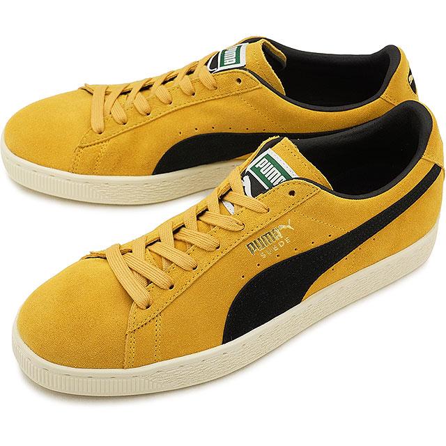 PUMA Puma suede men SUEDE CLASSIC ARCHIVE suede cloth classical music archive MINERAL YELLOWPUMA BLACK shoes [365,587 03 SS18]