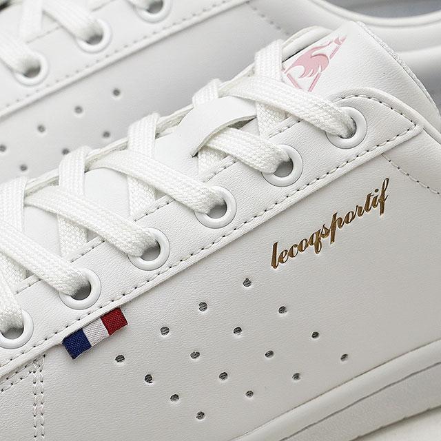 【即納】le coq sportif ルコックスポルティフ レディース スニーカー 靴 LA ROLAND SL ローラン SL ホワイト/ピンク [QL1LJC16WP SS18]