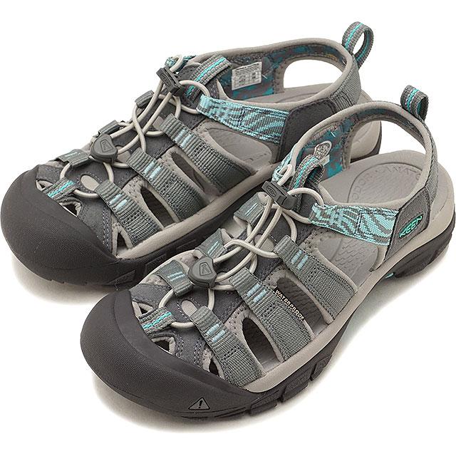 KEEN キーン サンダル 靴 レディース W NEWPORT HYDRO ニューポート ハイドロ S.Grey/B.Turquoise [1018834 SS18][e]