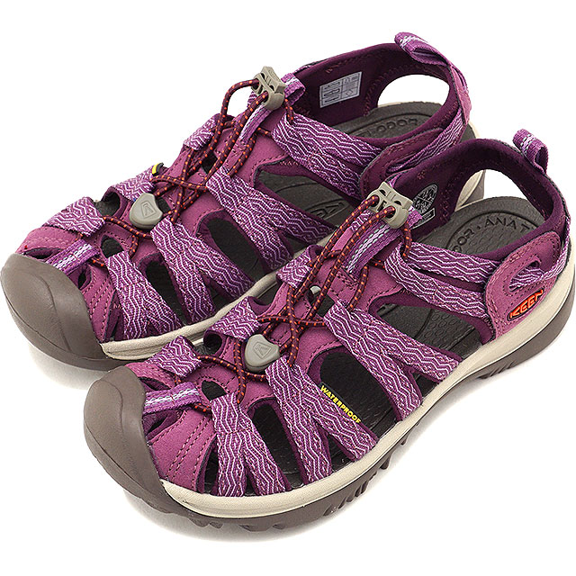 KEEN キーン サンダル 靴 レディース W WHISPER ウィスパー Grape Kiss/Grape Wine [1018229 SS18]