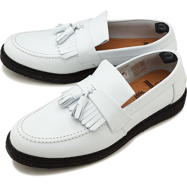【30%OFF/SALE】FRED PERRY フレッドペリー スニーカー FP × GEORGE COX TASSEL LOAFER LEATHER ジョージコックス タッセル ローファー レザー WHITE [B3300-100 SS18][e][ts]