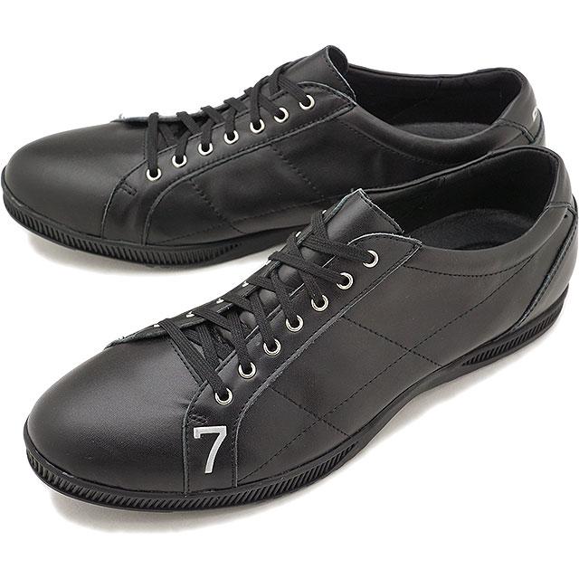 【即納】【返品送料無料】TOP SEVEN トップセブン TS-2101 レザースニーカー ALL BLK メンズ・レディース 靴 シューズ (SS18)【コンビニ受取対応商品】