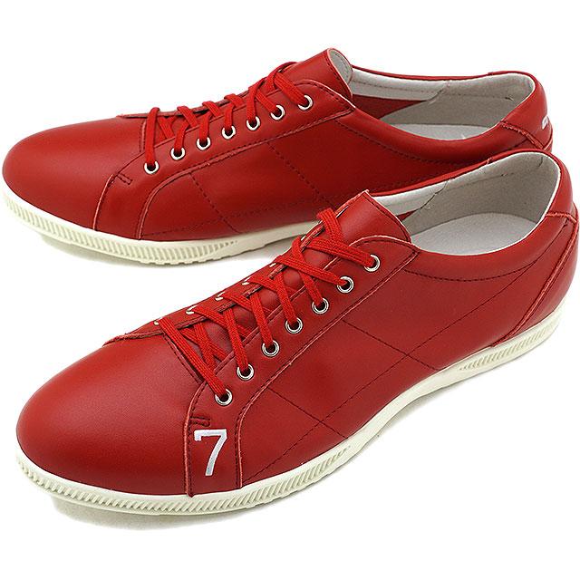 【5%OFFクーポン対象品】TOP SEVEN トップセブン TS-2101 レザースニーカー RED メンズ・レディース 靴 シューズ [SS18]