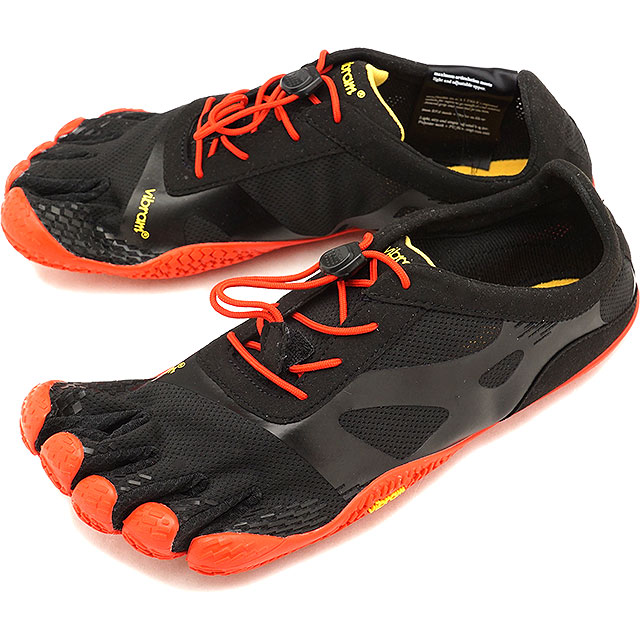 ビブラムファイブフィンガーズ メンズ Vibram FiveFingers ジム フィットネス カジュアル向け 5本指シューズ KSO EVO ベアフット Black/Red 靴 (18M0701 SS18)【コンビニ受取対応商品】