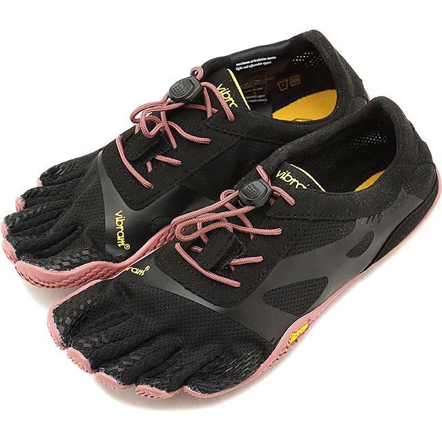 ビブラムファイブフィンガーズ レディース Vibram FiveFingers ジム フィットネス カジュアル向け 5本指シューズ KSO EVO ベアフット Black/Rose 靴 [18W0701 SS18]