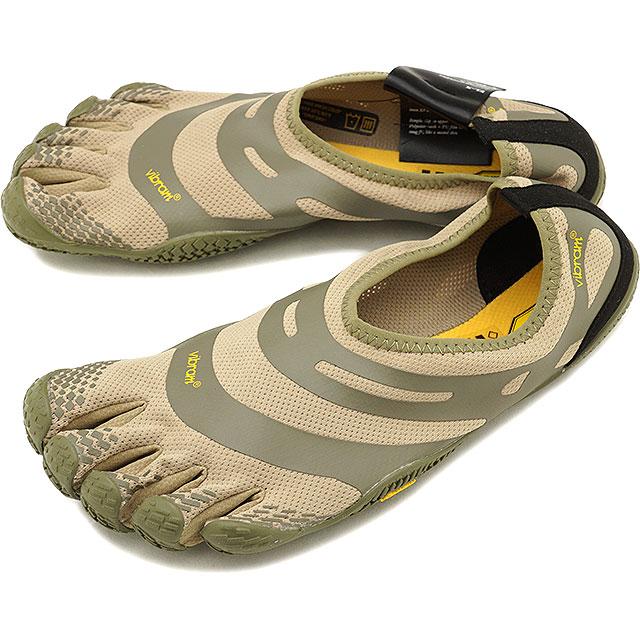 ビブラムファイブフィンガーズ メンズ Vibram FiveFingers ジム フィットネス カジュアル向け 5本指シューズ EL-X ベアフット Khaki/Coyote 靴 [18M0101 SS18]