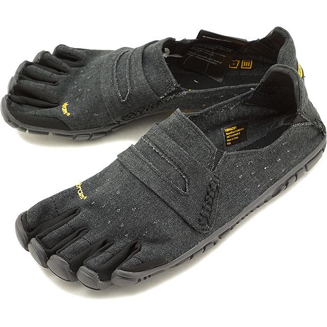 ビブラムファイブフィンガーズ メンズ Vibram FiveFingers カジュアル向け ヘンプ素材 5本指シューズ CVT-HEMP ベアフット Black 靴 (18M6201 SS18)【コンビニ受取対応商品】