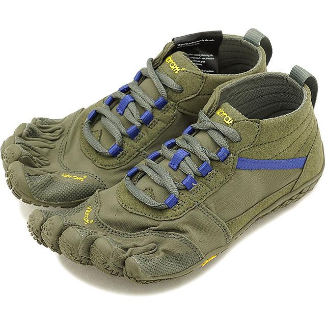 ビブラムファイブフィンガーズ レディース Vibram FiveFingers ハイキング アウトドア カジュアル向け 5本指シューズ V-TREK ベアフット Military/Purple 靴 [18W7402 SS18]