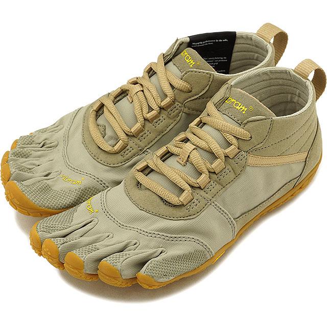ビブラムファイブフィンガーズ レディース Vibram FiveFingers ハイキング アウトドア カジュアル向け 5本指シューズ V-TREK ベアフット Khaki/Gum 靴 [18W7403 SS18]