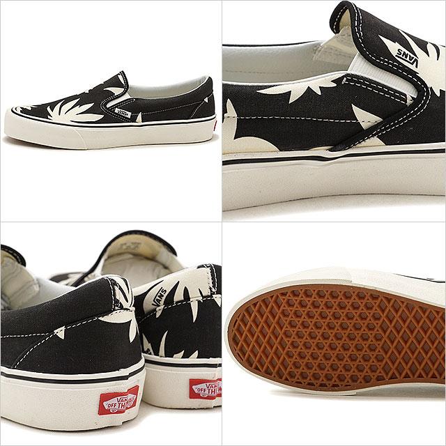 57c72e02b5048d VANS vans men Lady s sneakers shoes Summer Leaf Classic Slip-On SF summer  leaf classical music slip-on surf slip-ons black white black   white  (VN0A3MUCQFC ...