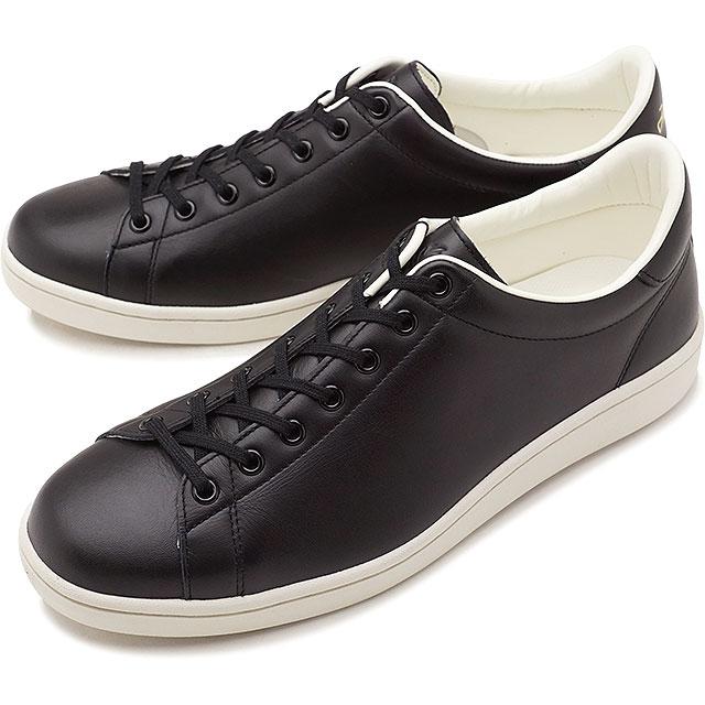 【即納】【日本生産モデル】FRED PERRY フレッドペリー スニーカー 靴 メンズ・レディース BREAUX LEATHER ブロー レザー BLACK (F19682-07 SS18)【コンビニ受取対応商品】