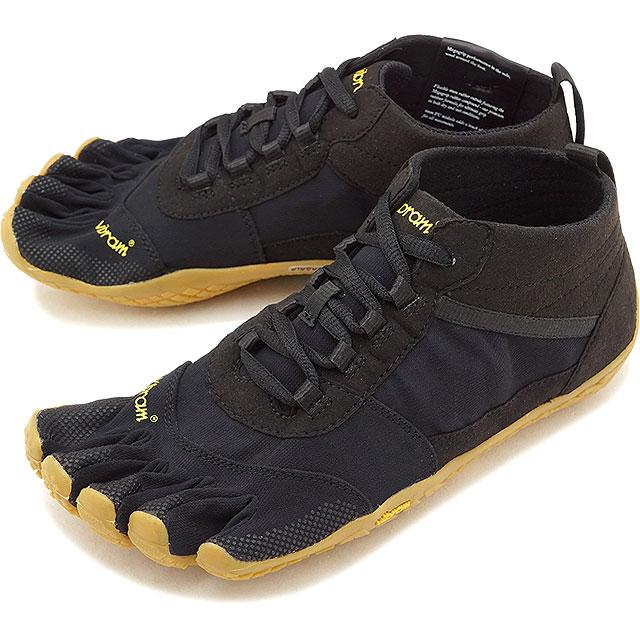 ビブラムファイブフィンガーズ メンズ Vibram FiveFingers ハイキング アウトドア カジュアル向け 5本指シューズ V-TREK ベアフット 靴 Black/Gum [18M7401 SS18]