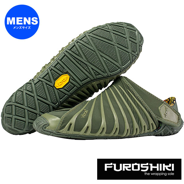 ビブラム フロシキ シューズ メンズ Vibram FUROSHIKI shoes スニーカー ビブラムソール 靴 Olive [18MAD04 SS18]