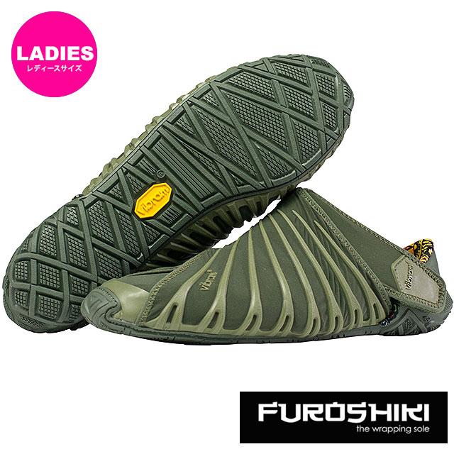ビブラム フロシキ シューズ レディース Vibram FUROSHIKI shoes スニーカー ビブラムソール 靴 Olive [18WAD04 SS18]