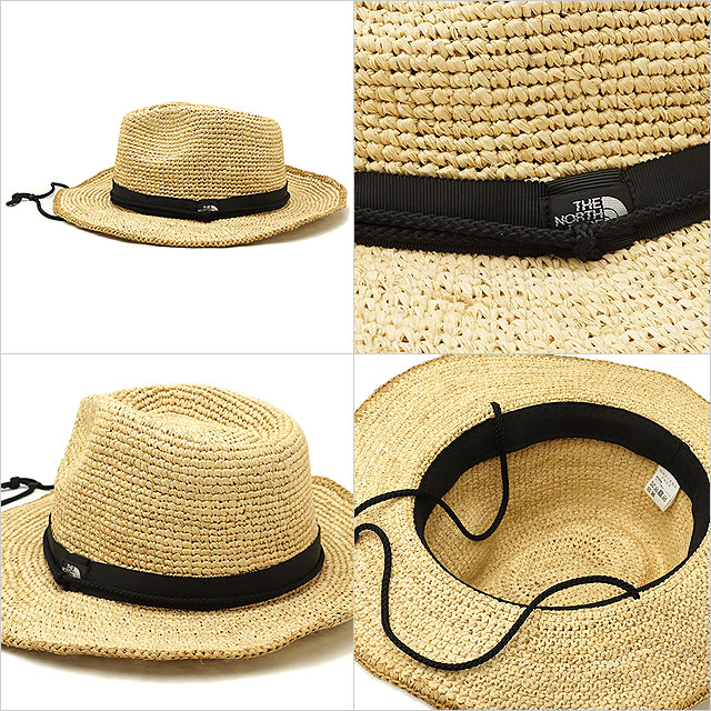 124410c81 THE NORTH FACE the North Face men Lady's straw hat Raffia Hat raffia hat  straw hat (NN01554 SS18)
