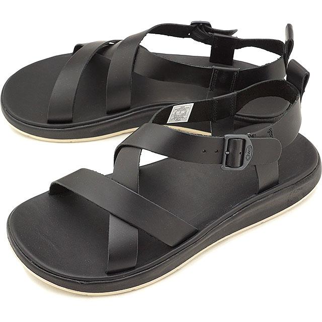 19fab622fd49 Chaco sandal Chaco men leather sandal MENS WAYFARER ウェイヘラー Black black  (12366134 J106139 SS18)