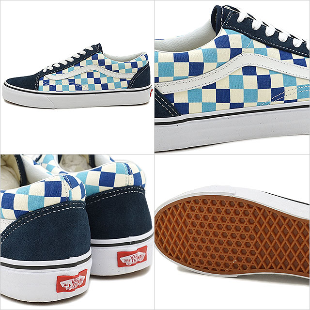 cb50485bf10a7d VANS vans men sneakers shoes Checkerboard Old Skool checkerboard old school  blue topaz blue blue (VN0A38G1QCM SS18)