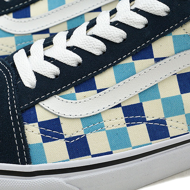 0c4a53849a VANS vans men sneakers shoes Checkerboard Old Skool checkerboard old school  blue topaz blue blue (VN0A38G1QCM SS18)