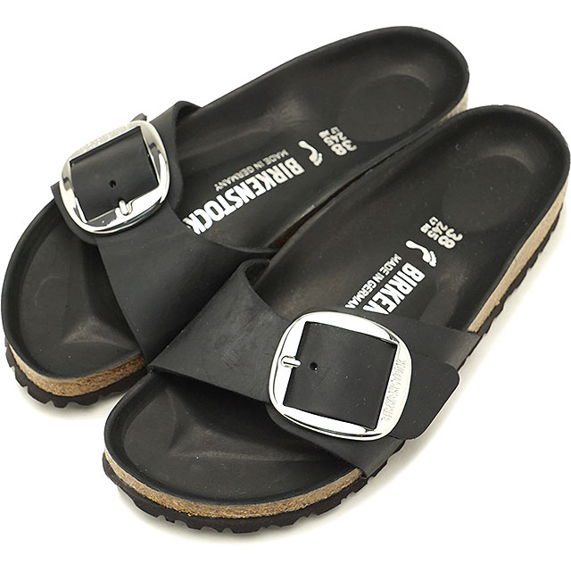 1135937b4db BIRKENSTOCK ビルケンシュトックサンダル shoes Lady s Madrid Big Buckle Madrid big buckle  Black (GC1006523 SS18)