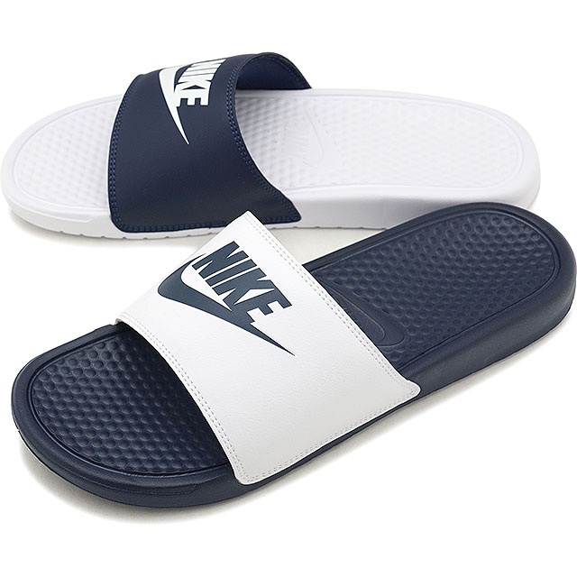 huge selection of d40c6 93383 NIKE Nike men Lady s sandal BENASSI JDI MISMACH ベナッシ JDI mismatch midnight  navy   white ...