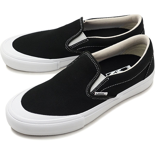 VANS vans Pross Kate sneakers shoes Toe-Cap Slip-On Pro toe cap slip-on pro  men black/white (VN0A347VQ4H SS18)