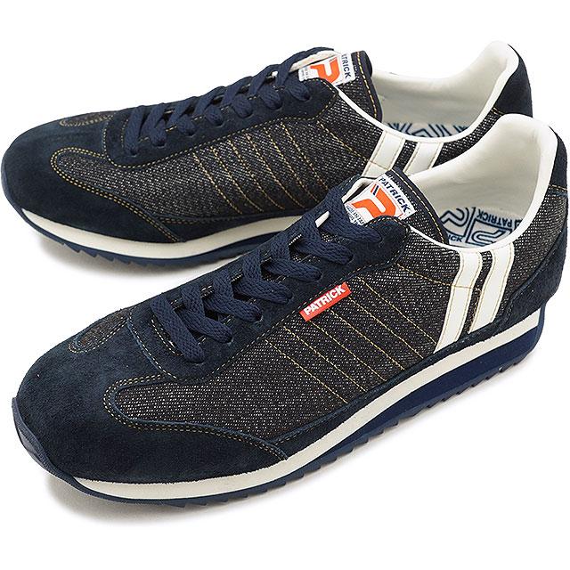 【即納】【返品送料無料】PATRICK パトリック スニーカー MARATHON-D マラソン・デニム IDG メンズ・レディース 靴 (530182 SS18)【コンビニ受取対応商品】