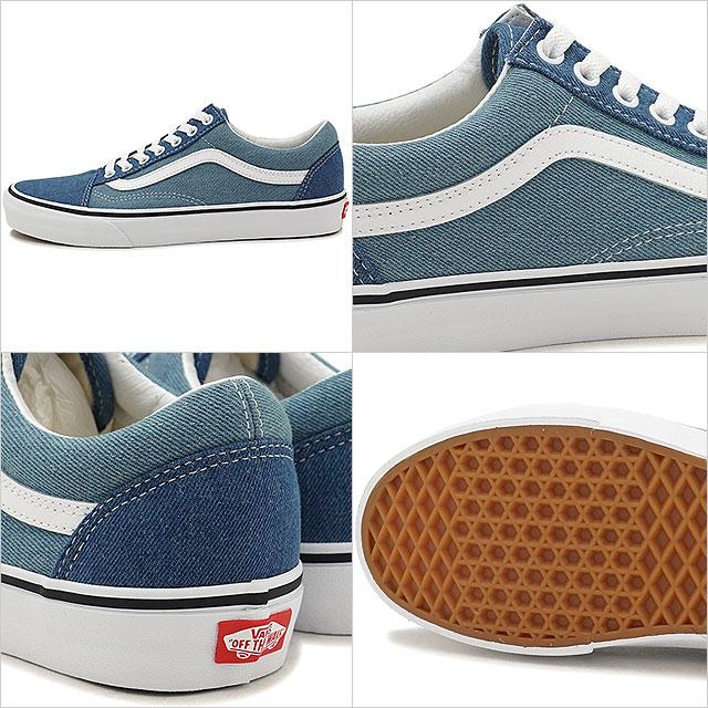 f9613cdb86 VANS vans men Lady s sneakers shoes Denim 2-Tone Old Skool denim 2 tone old  school blue t. white blue (VN0A38G1Q69 SS18)