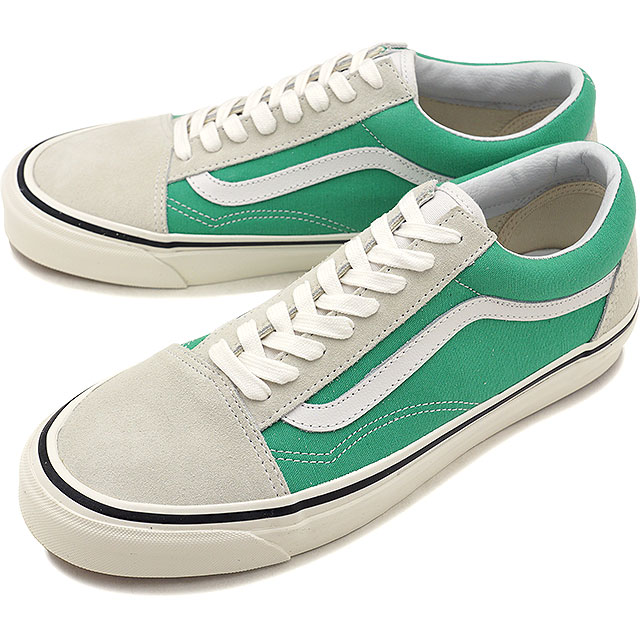 VANS vans men sneakers shoes Anaheim Factory Old Skool 36 DX Anaheim old school 36 DX whiteog jade green (VN0A38G2R1X SS18)