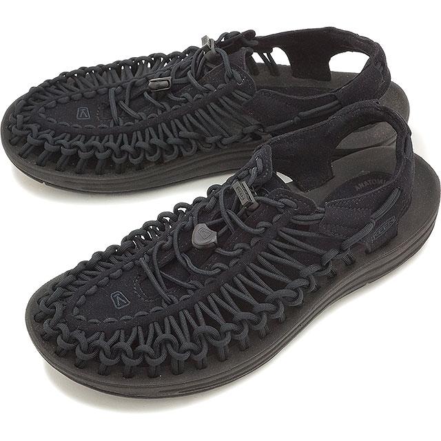 【即納】KEEN キーン メンズ サンダル 靴 UNEEK 3C MEN ユニーク スリーシー Black/Black [1014097]
