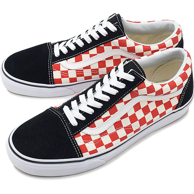 VANS vans men sneakers shoes Checkerboard Old Skool checkerboard old school  black red black   red (VN0A38G135U SS18) 179df1566