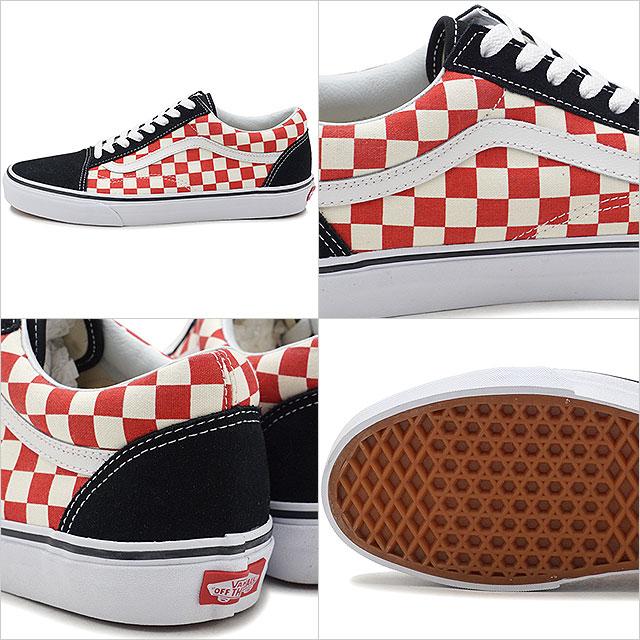 7c2cf23d326 VANS vans men sneakers shoes Checkerboard Old Skool checkerboard old school  black red black   red (VN0A38G135U SS18)