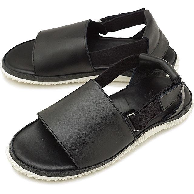 【返品送料無料】SPINGLE MOVE スピングルムーブ SPM-708 レザーサンダル Black メンズ 靴 スピングル ムーヴ [SPM708-05 SU18]