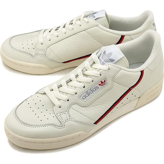 Scarlet adidas Originals Adidas originals CONTINENTAL 80 Continental 80  men s lady s sneakers shoes white T S18 O white   (B41680 FW18) 5faec777cb2