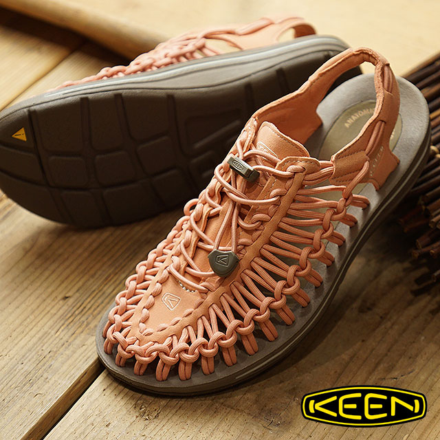 ce7282e08e20 Kean KEEN lady s unique WOMEN UNEEK sandals sneakers shoes Muted  Clay Silver Green (1019937 FW18)