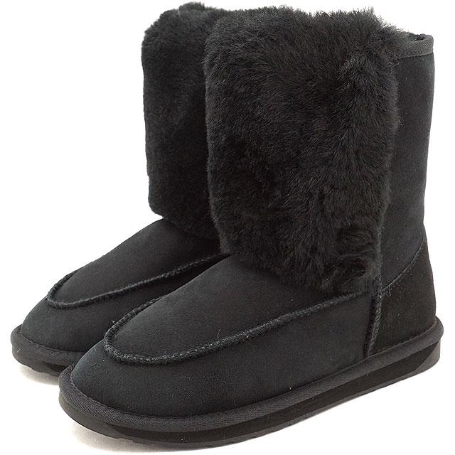 【40%OFF】【在庫限り】emu エミュー オーストラリア ムートンブーツLANCHESTON レディース 靴 BLACK (W11555)【ts】【e】【コンビニ受取対応商品】
