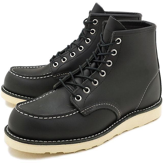 【返品サイズ交換可】レッドウィング アイリッシュセッター クラシック ワークブーツ 6インチ モックトゥ REDWING 8179 CLASSIC WORK BOOTS BLACK CHROME 靴