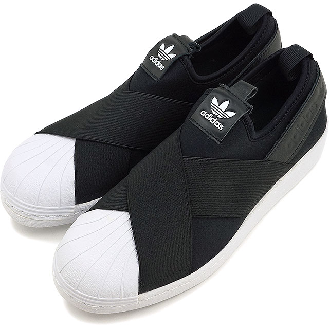 Adidas originals superstar slip ons women adidas Originals Lady's Superstar Slip On W core black core black running white shoes (S81337 SS19)