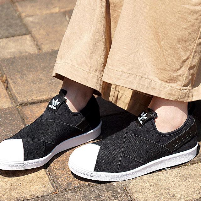 online store c1d8d c39cb Adidas originals superstar slip-ons women adidas Originals Lady's Superstar  Slip On W core black / core black / running white shoes (S81337 SS19)