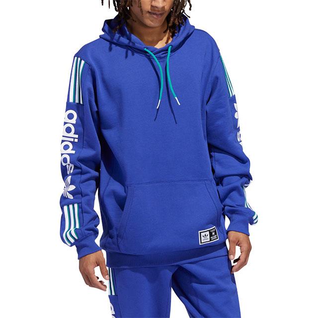 adidas originals 3 stripe pullover hoodie