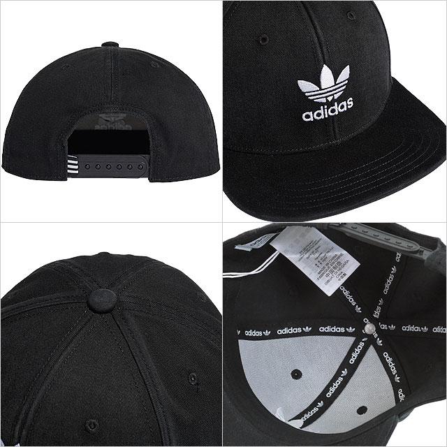 206db5e8a1e 愛迪達原始物adidas Originals平地面罩蓋子AC TREFOIL FLAT CAP  torefoirufurattokyappusunappubakkumenzuredisu帽子黑色 白(FUA59 DV0236 SS19)