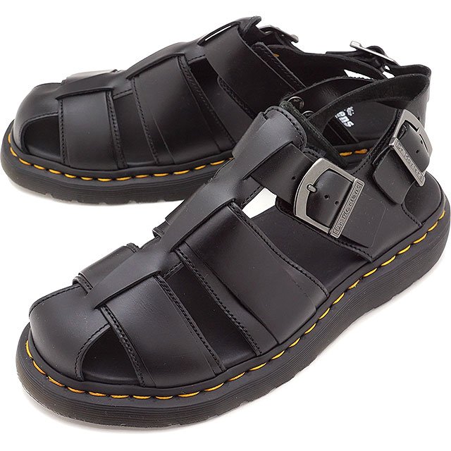4560164b2 Doctor Martin Dr.Martens fisherman sandals KASSION BRANDO men gap Dis  leather sandal BLACK  24629001 SS19