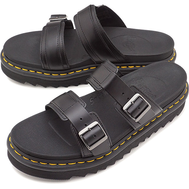 aed0a2207 Doctor Martin Dr.Martens leather sandals Myles MILES BRANDO men gap Dis  shoes BLACK ...