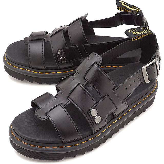 97a417c6b9 Doctor Martin Dr.Martens fisherman sandals Terry TERRY BRANDO men gap Dis  leather sandal BLACK ...
